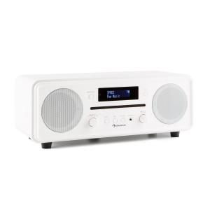Melodia CD DAB+/FM Radio de mesa Reproductor de CD Bluetooth Alarma Repetición blanco Blanco