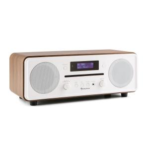 Melodia CD DAB+/FM Radio de mesa Reproductor de CD Bluetooth Alarma Repetición marrón Negro