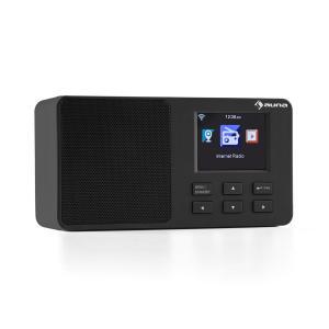 "IR-110 Radio por internet Pantalla de color TFT de 3,2"" Batería WLAN USB negro Negro"