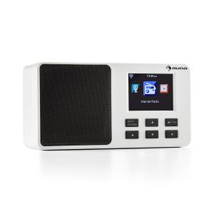 """IR-110 Radio por internet Pantalla de color TFT de 3,2"""" Batería WLAN USB blanca Blanco"""