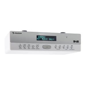 KR-100 DAB Radio de cocina bajo mueble DAB+ Bluetooth micrófono altavoz Blanco