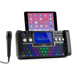 "DiscoFever Bluetooth equipo de karaoke LED pantalla 7"" CD USB negro Negro"