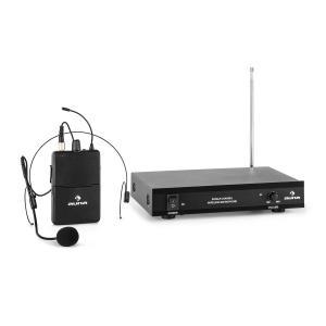 VHF-1-HS Juego de micrófono inalámbrico VHF de 1 canal con auriculares 50 m