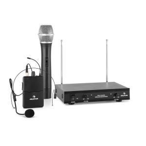 VHF-2-HS Juego de micrófono inalámbrico VHF de 2 canales con 1 micrófono