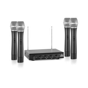 VHF-4-H Juego de micrófonos inalámbricos VHF de 4 canales 4 micrófonos de m