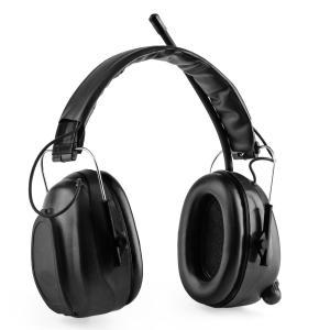 Jackhammer BT cascos anti ruido Radio FM 4.0 Bluetooth AUX in SNR 28dB Negro