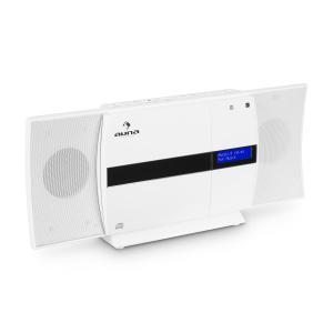 V-20 DAB Sistema estéreo vertical Bluetooth NFC CD USB MP3 DAB+ Blanco