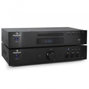 Set amplificador estéreo hifi y reproductor CD Auna 600 w
