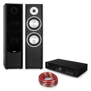 Linie-300 Juego Hi-Fi Bluetooth Amplificador Altavoces de torre pasivos negro