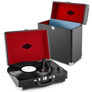 Peggy Sue Record Collector Set negro | Tocadiscos retro | Maleta para tocadiscos