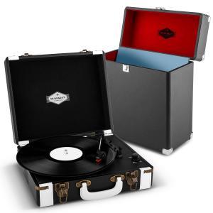 Jerry Lee Record Collector Set negro | Tocadiscos retro | Maleta para tocadiscos