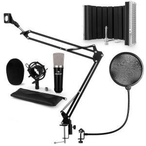 CM003 set de micrófono V5 micrófono condensador XLR brazo de micrófono negro