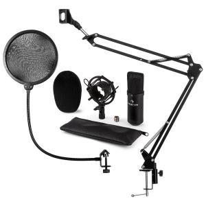 CM001B set de micrófono V4 micrófono condensador brazo de micrófono protección anti pop negro