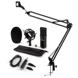 CM001S set de micrófono V3 micrófono condensador adaptador USB brazo de micrófono negro