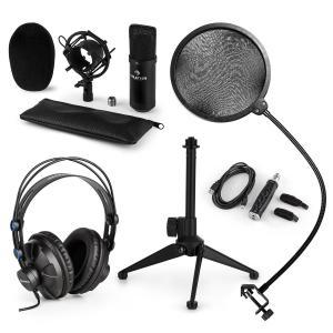 CM001B Set micrófono V2 Auricularesy Micrófono de condensador negro