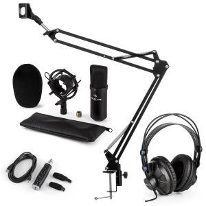 CM001B set de micrófono V3 micrófono condensador adaptador USB brazo de micrófono negro
