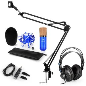 CM001BG set de micrófono V3 micrófono condensador adaptador USB brazo de micrófono azul