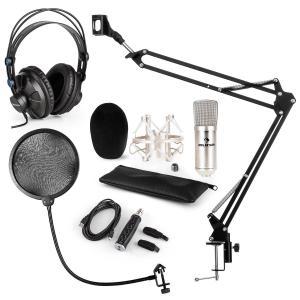 CM001S set de micrófono V4 micrófono condensador adaptador USB brazo de micrófono protección anti pop