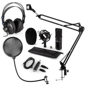 CM001BG set de micrófono V4 micrófono condensador brazo de micrófono protección anti POP adaptador USB