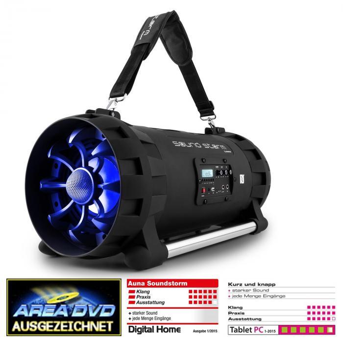 Soundstorm Altavoz Boombox bluetooth con batería 1000W máx. negro/azúl