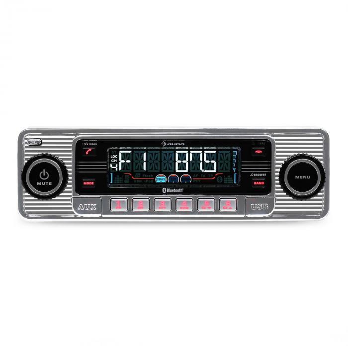 TCX-1-RMD Autorradio bluetooth USB SD MP3 AUX CD plata Plata