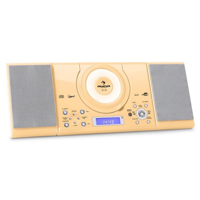 MC-120 Equipo estéreo MP3 USB CD FM/AM Montaje de pared Crema Crema