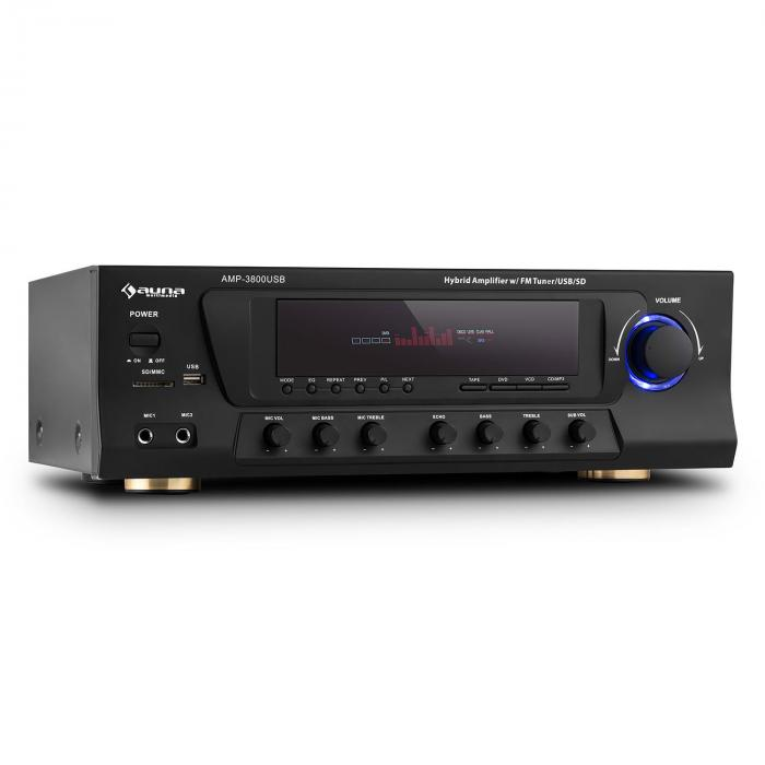 AMP-3800 USB 5.1 receptor surround de 5.1 canales 600W max USB SD FM negro