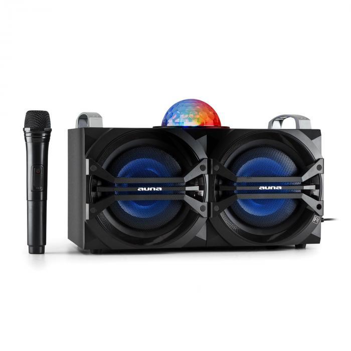 DisGo Box 265 Sistema de audio para fiestas Batería Bluetooth USB FM Efectos de luz LED
