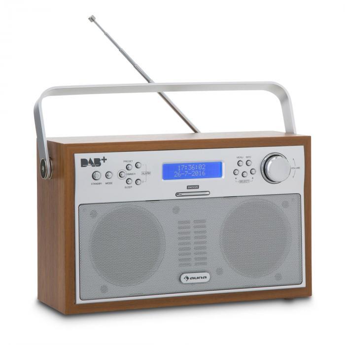 Akkord Radio digital portátil DAB+/PLL-FM Radio Alarma LCD color nuez Nogal