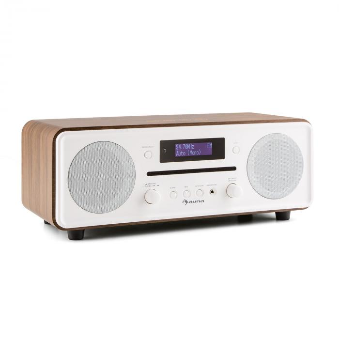 Melodia CD DAB+/FM Radio de mesa Reproductor de CD Bluetooth Alarma Repetición marrón