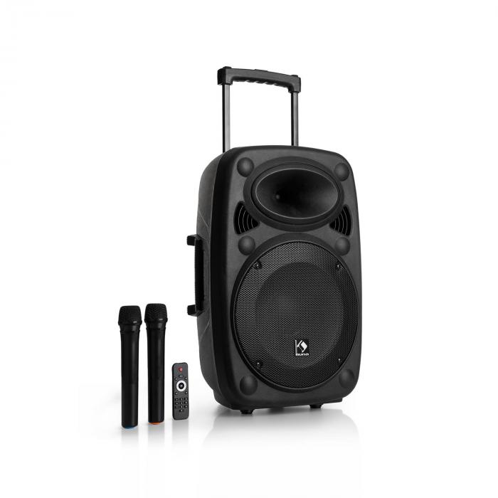 "Streetstar 12 equipo de PA móvil 12"" subwoofer trolley BT USB/SD/MP3 FM AUX"