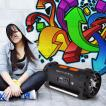 Soundstorm Altavoz Boombox bluetooth con batería 1000W máx. negro/naranja